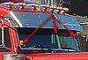 Peterbilt 379 3pc Windshield Trim, set